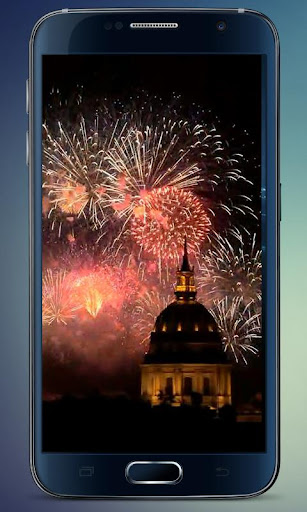 Paris Fireworks Live Wallpaper