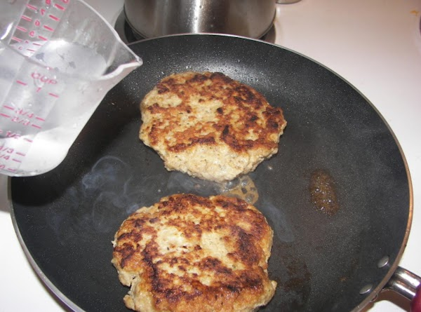 heat a non stick skillet to cook the burgers.