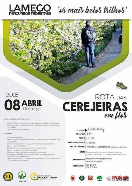 Programa – Rota das Cerejeiras em Flor – Lamego – 8 de abril de 2018