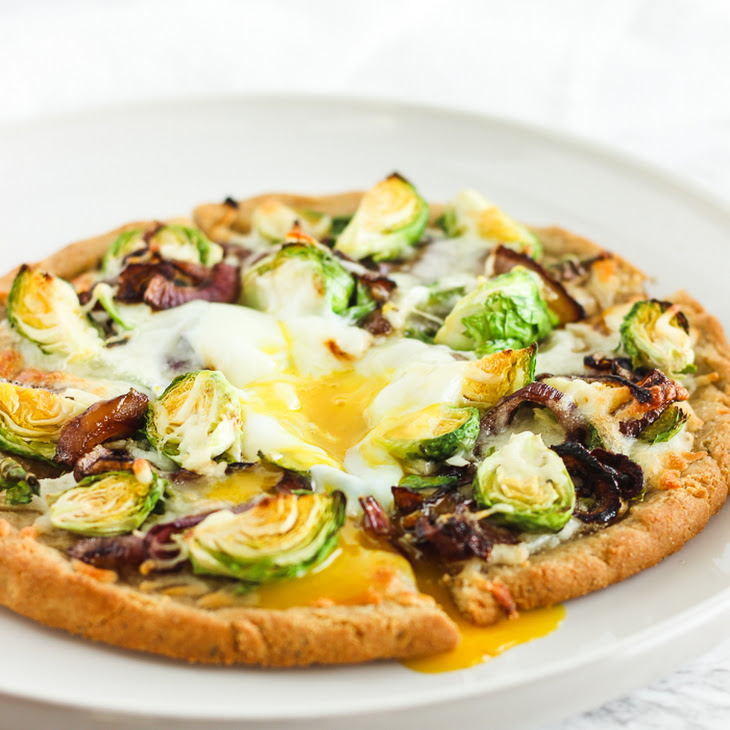 Gluten Free Caramelized Onion Brussels Sprout Pizza Recipe