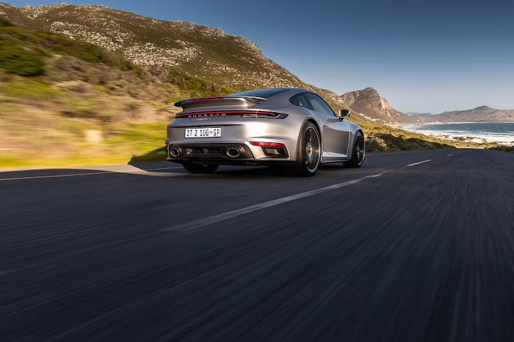 The 911 Turbo S blends breathtaking power with long-distance driving comfort.