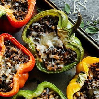Stuffed Peppers With Rice And Mushrooms Recipes.