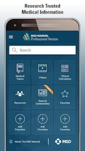 MSD Manual Pro Version - náhled