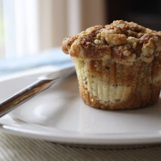 Gooseberry Crumble Cheesecake Filled Muffins