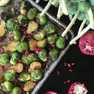 Pomegranate Molasses Roasted Brussel Sprouts.