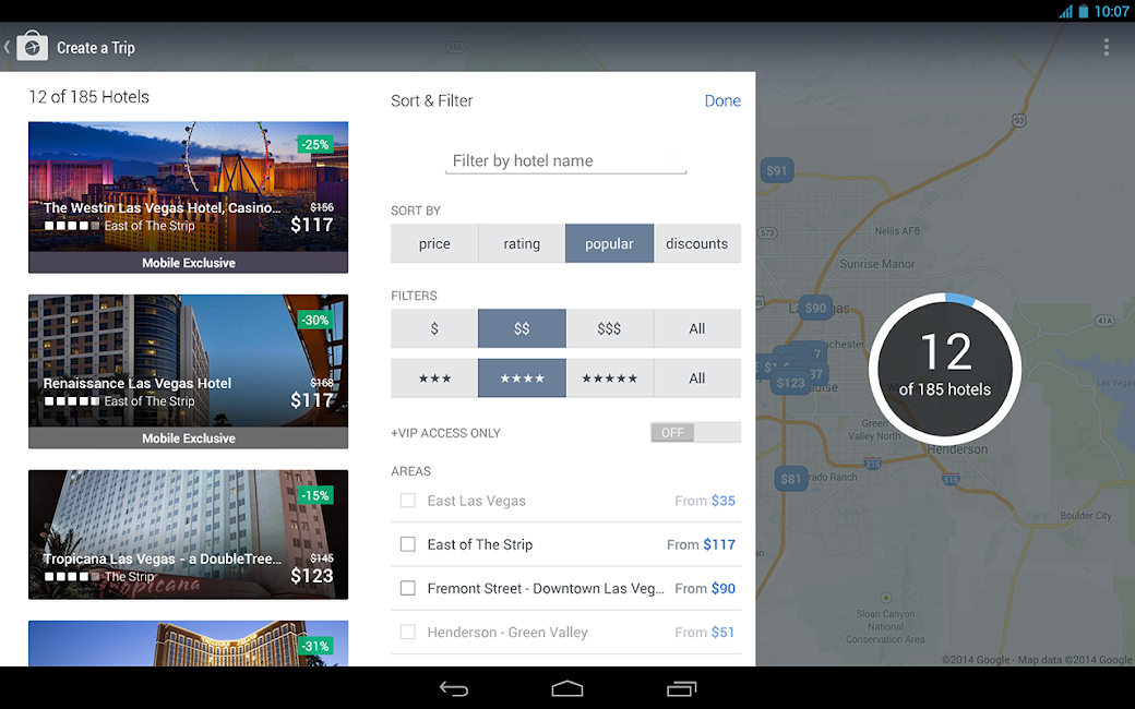 #12. Expedia Hotels, Flights & Cars (Android)