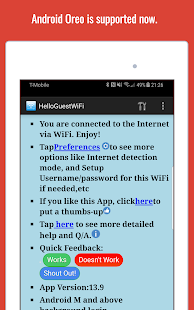 WiFi Web Login Screenshot