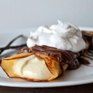 Vanilla Bean Crepes with Vanilla Bean Custard and Warm Nutella Drizzle Recipe