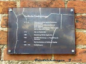 Photo: Spendenkonto für die Erhaltung der Dorfkirche in Friedrichshagen:  Ev. Kreditgenossenschaft eG Schwerin  Kto.-Nr.: 54 04 240  BLZ :       520 604 10   Bitte den Verwendungszweck angeben!   Eine Spendenbescheinigung zur Vorlage für das Finanzamt erhalten Sie jeweils am Ende des Kalenderjahres. Vielen Dank!