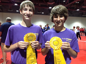 Photo: Ethan and Dane Pairs Freestyle 4th place