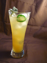 Photo: The Agave Pina Cocktail: Tequila, pineapple juice, agave nectar, fresh jalapeno, sage, lime juice, club soda