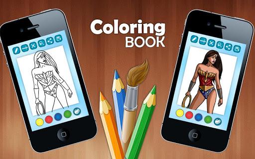 Coloring Page Superhero
