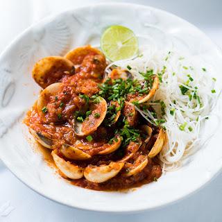 Thai-Style Clams in Tomato Sauce.