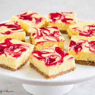 Lemon Raspberry Cheesecake Bars.