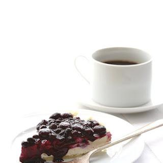 No Bake Blueberry Cheesecake Pie.