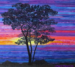 Photo: Sunset Sentinel First Place Ribbon, American Quilter's Society Albuquerque 2015
