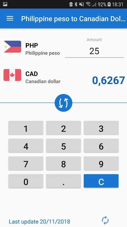Philippine Peso To Canadian Dollar