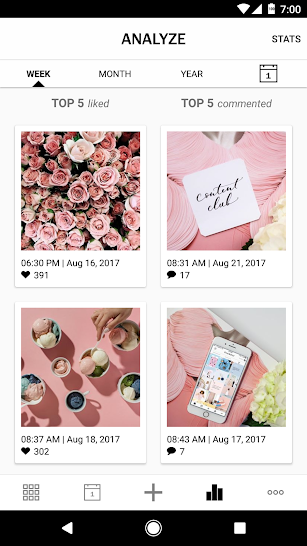 Planoly: Instagram Posts Scheduler & Feed Planner screenshot for Android