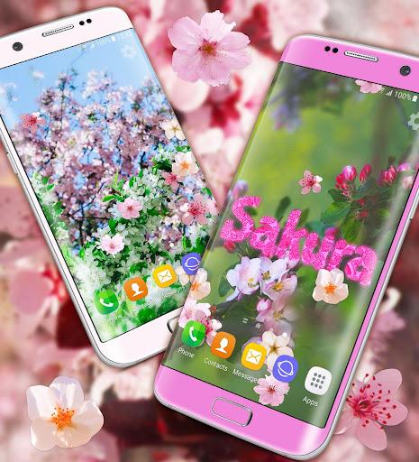 Sakura Parallax Live Wallpaper ud83cudf38 3D Blossoms screenshots 2