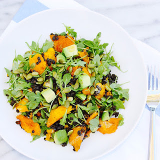 Braised Lentil Salad with Roasted Kabocha, Arugula & Avocado