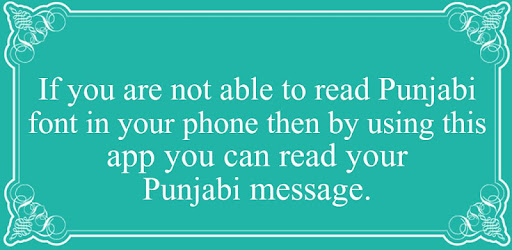 Read Punjabi Font Automatic - Apps on Google Play