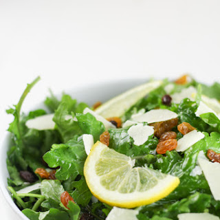 Kale Lemon Salad with Parmesan & Golden Raisins