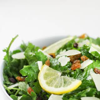Kale Lemon Salad with Parmesan & Golden Raisins.