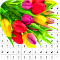 Tulip Flower Color By Number - Pixel Art icon