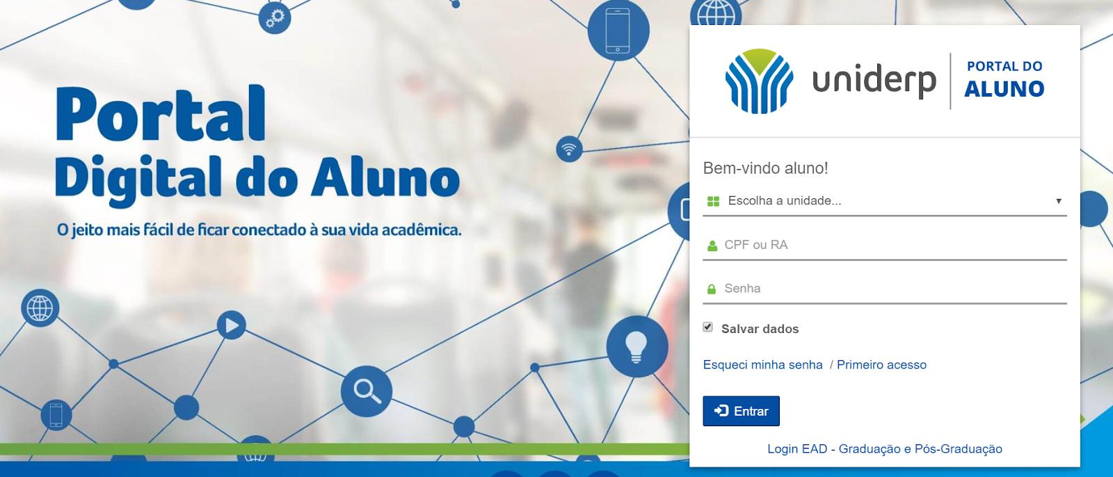 acesso ao portal digital do aluno uniderp