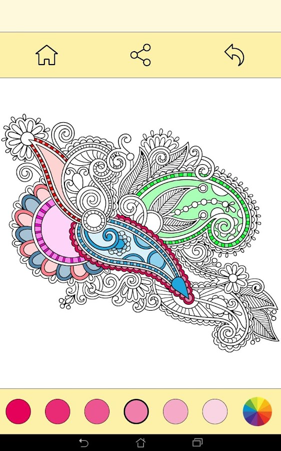 free coloring book for adults screenshot