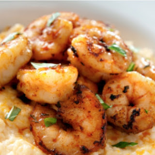 Cajun Shrimp with Cheddar Cheese Grits.