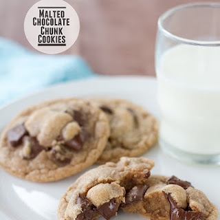 Malted Chocolate Chunk Cookies