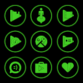 Green On Black Icons By Arjun Arora