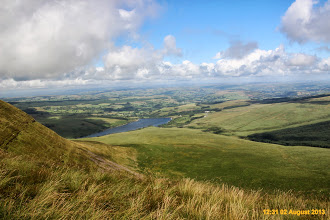 Photo: And further to the left is Cray Reservoir, final leg of walk along, Nant Gyhirych gulley to car and walk finish
