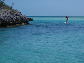 Photo: Rounding the southwestern tip of Hoffman Cay