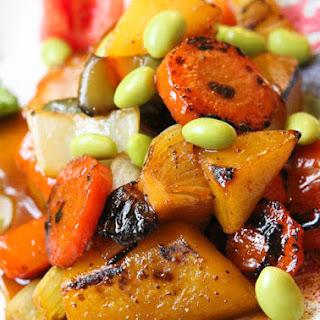 Apple Glazed Vegetable & Edamame Stir Fry.