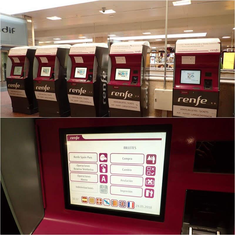 Renfe Ticket Machine at Madrid Chamartin Station