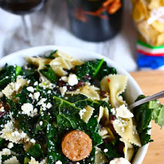 Pantry Pasta with Black Beans, Kale and Spicy Chicken Sausage.