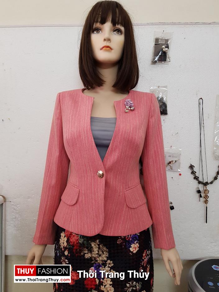 Áo vest nữ dáng ngắn màu hồng V692 thời trang thủy hà nội