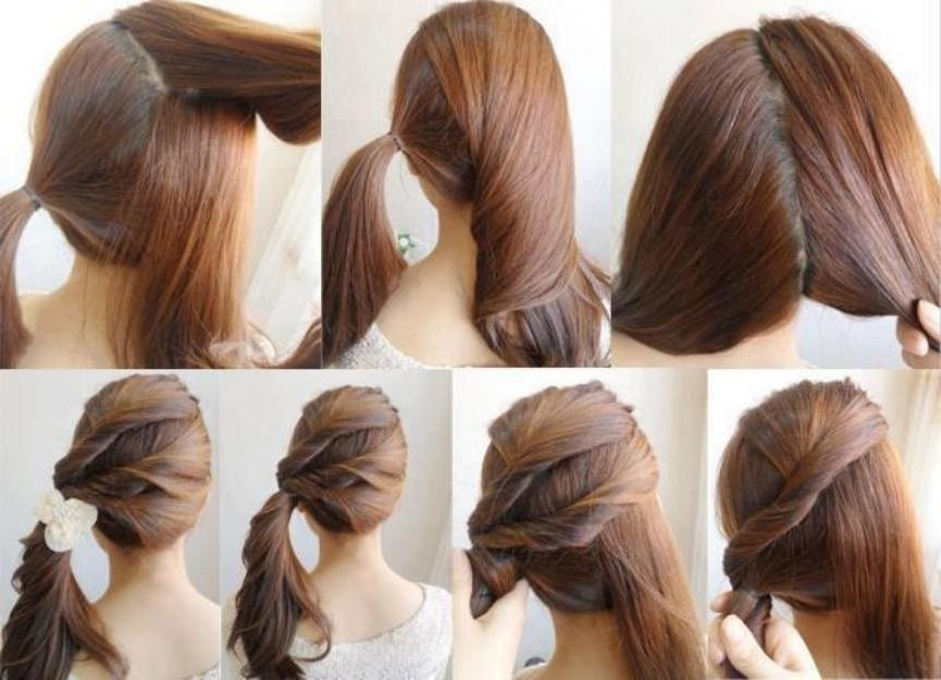 Hairstyles Step By Step how to do a headband braid on yourself step by step Hairstyles Step By Step Screenshot
