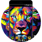 Neon Color Lion: Cool Launcher Theme Icon