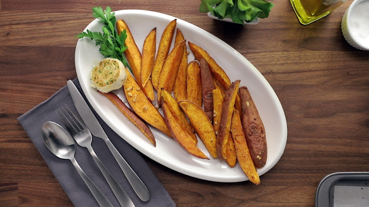 Garlic Sweet Potato Fries Recipe