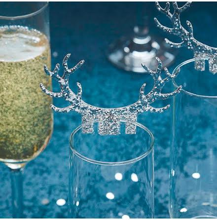 Glasdekorationer Ren - Silver Christmas
