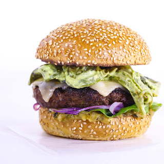 'What's your Poblano?' Carne Asada Burger.