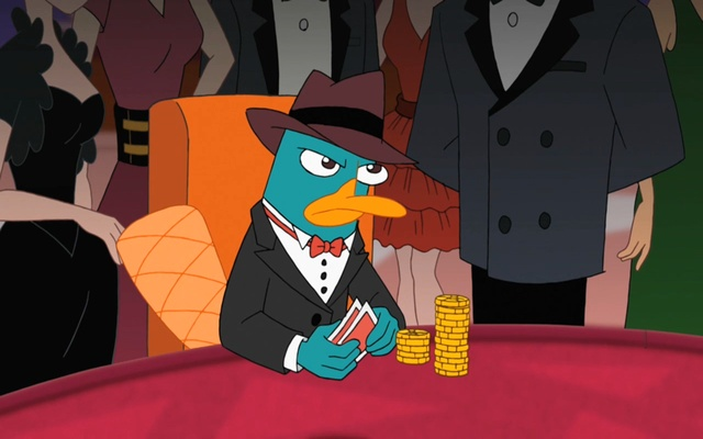 Perry the platypus chrome web store if you like phineas and ferb youll love this perry the platypus theme the new tab image is perry the platypus playing poker voltagebd Images