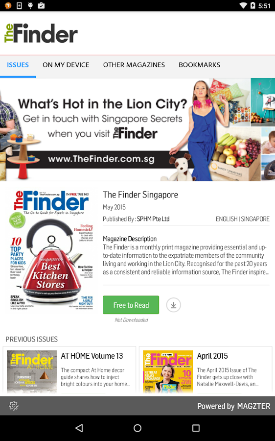 The Finder Singapore- screenshot