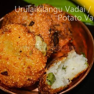 Potato Fritters / Urulaikilangu Vadai.