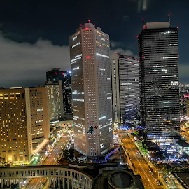Tokyo by Jurich Bitco - Buildings & Architecture Office Buildings & Hotels ( tokyo, japan, buildings, night )
