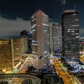 Tokyo by Jurich Bitco - Buildings & Architecture Office Buildings & Hotels ( tokyo, japan, buildings, night )