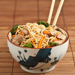 Homestyle Chicken Chow Mein Noodles.